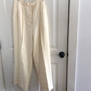 Pale yellow J Crew linen trousers basically new